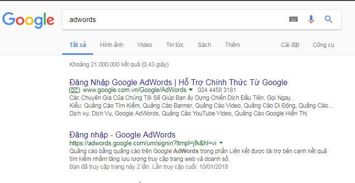 Bước 1 truy cập google