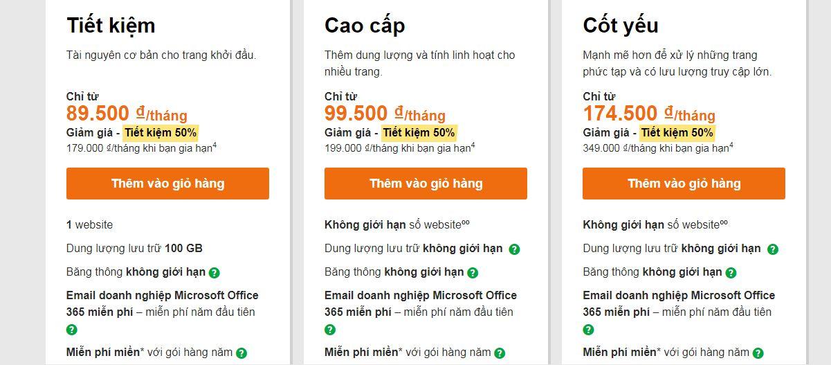 hosting web giá rẻ