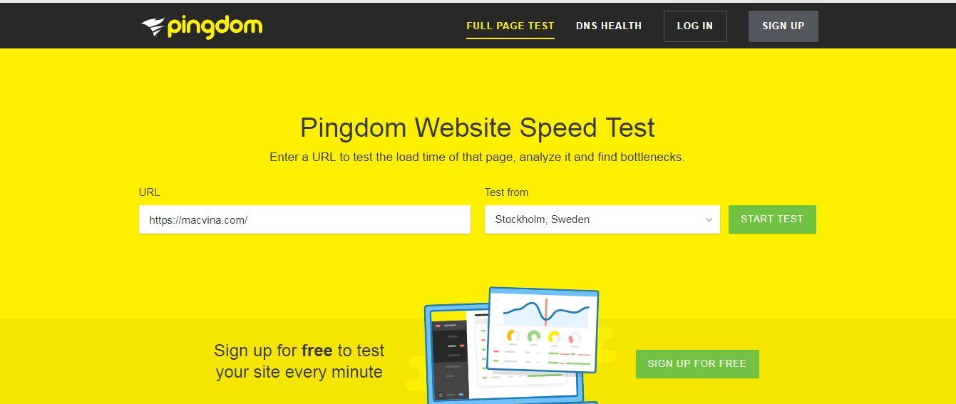 website kiểm tra tốc độ tải trang