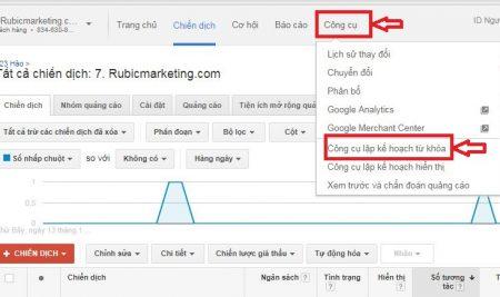 Công cụ phân tích từ khóa Google Adwords
