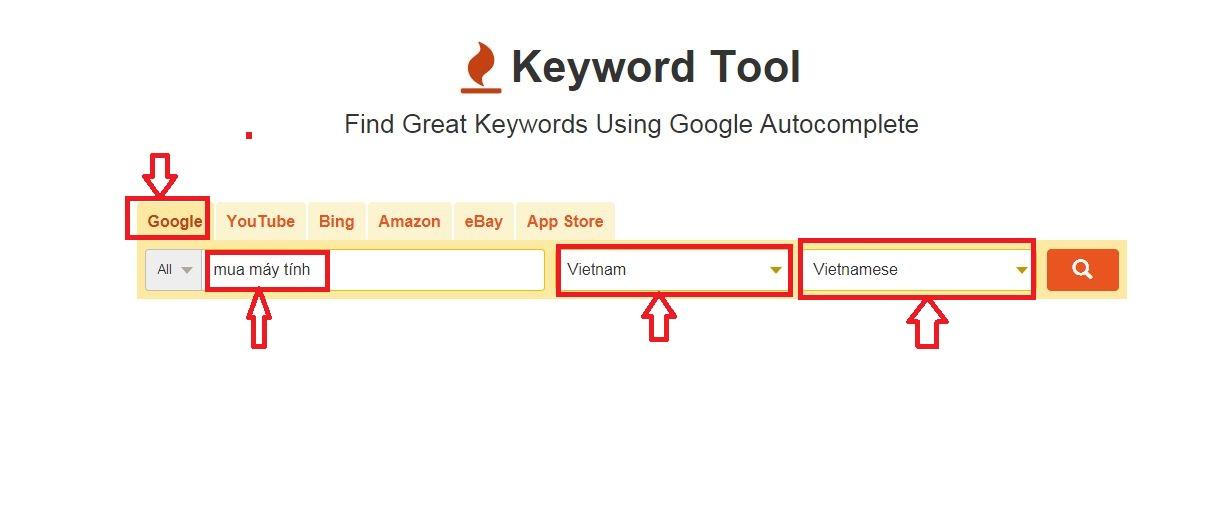 công cụ phân tích từ khóa keyword tool