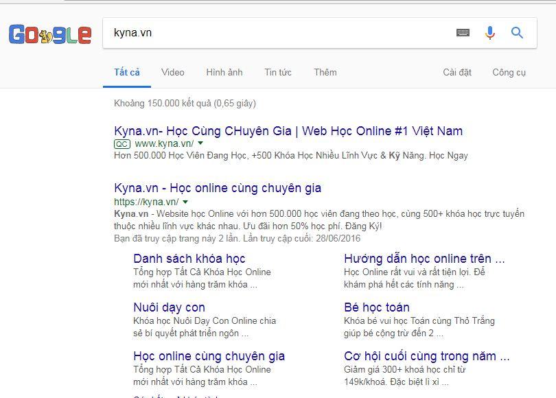 google site links là gì