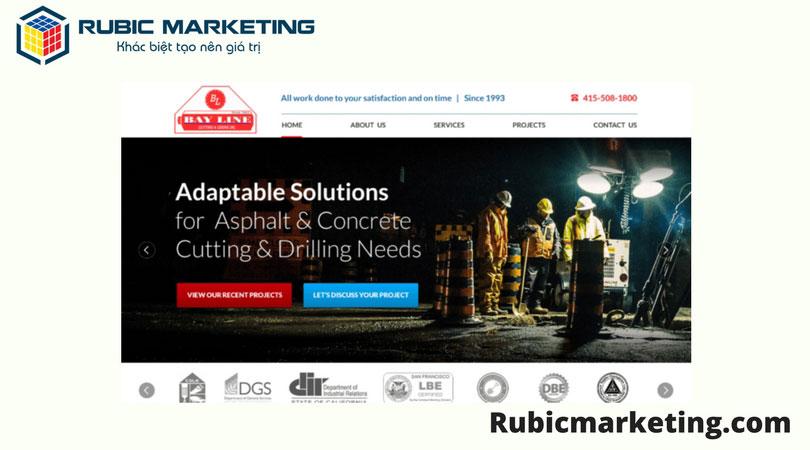 thiết kế web ngành xây dựng