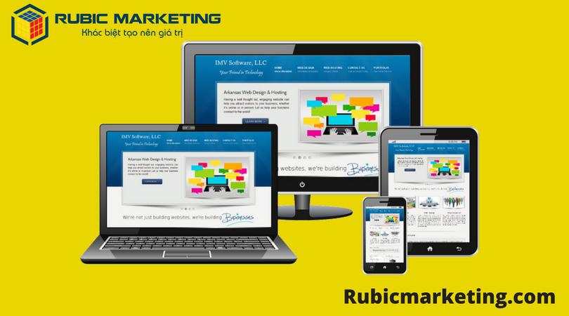 dịch vụ làm web rubic marketing
