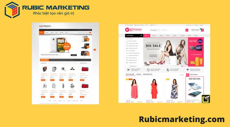 thiết kế web shop giá rẻ
