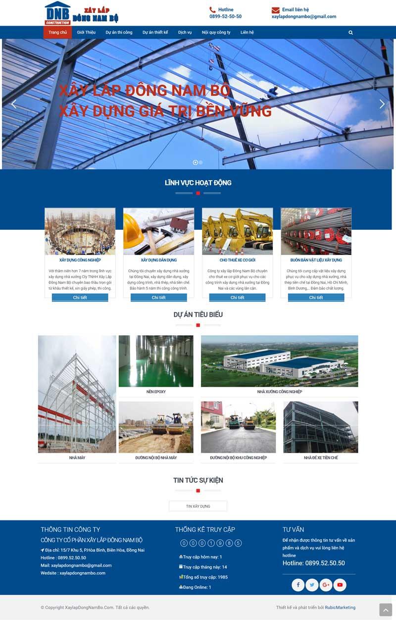 thiết kế mẫu trang web đẹp