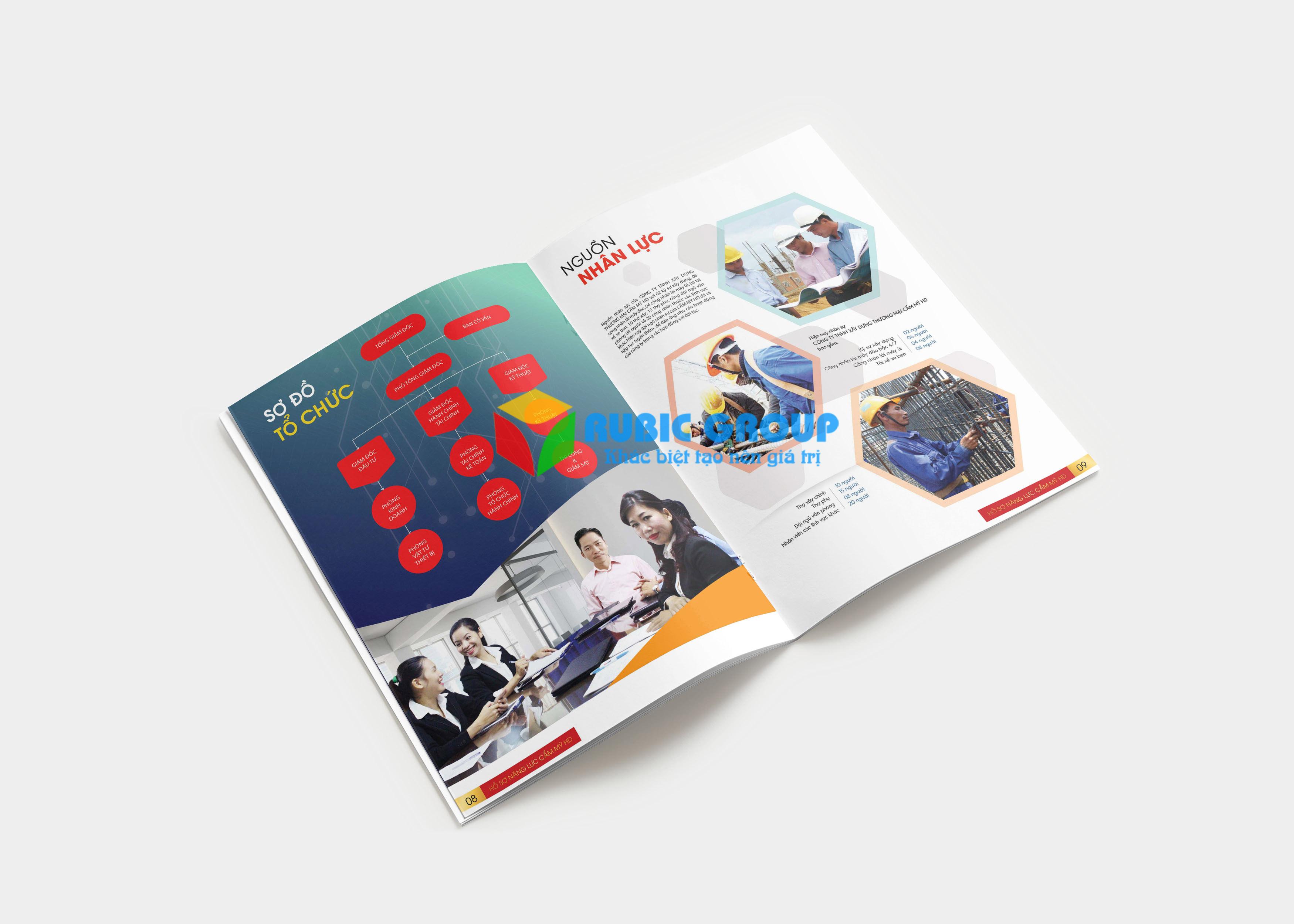 thiết kế hồ sơ năng lực cẩm mỹ hd 1