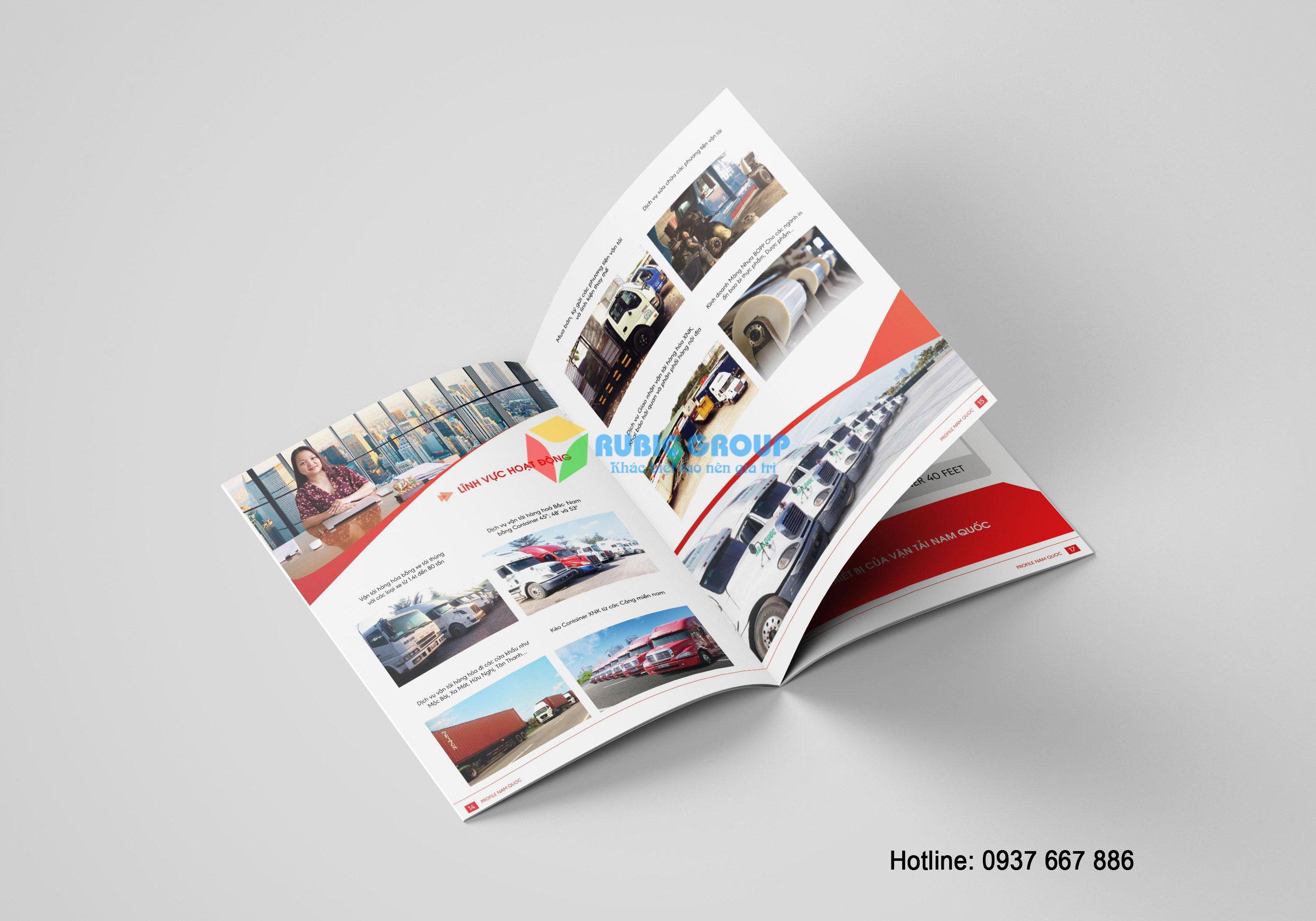 thiết kế hồ sơ năng lực vận tải nam quốc 3