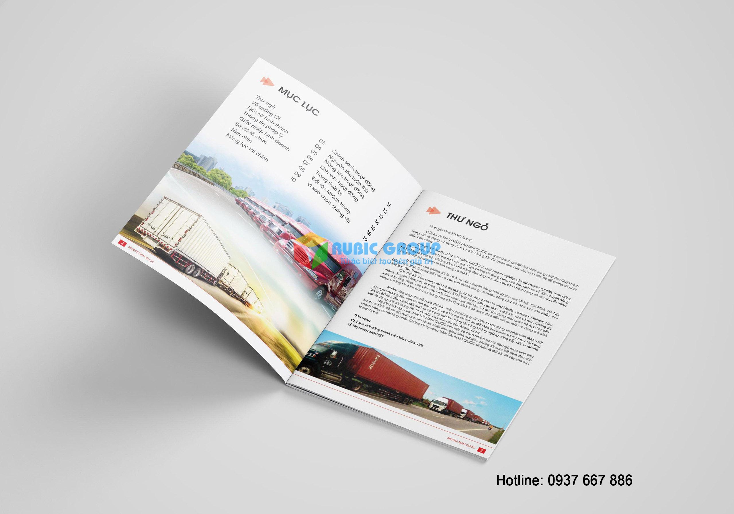 thiết kế hồ sơ năng lực vận tải nam quốc 5