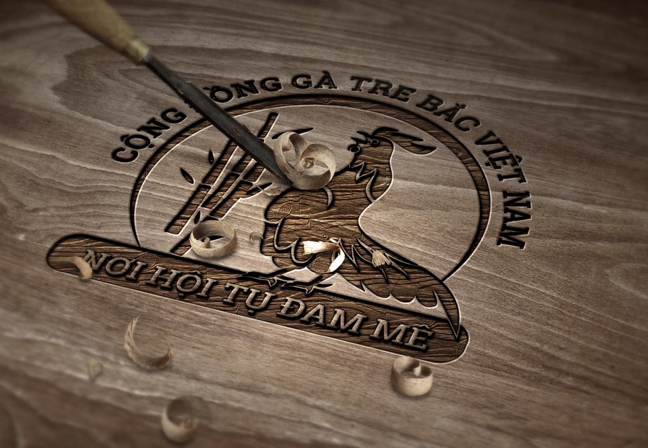 Logo cộng đồng gà tre bắc Việt Nam 3