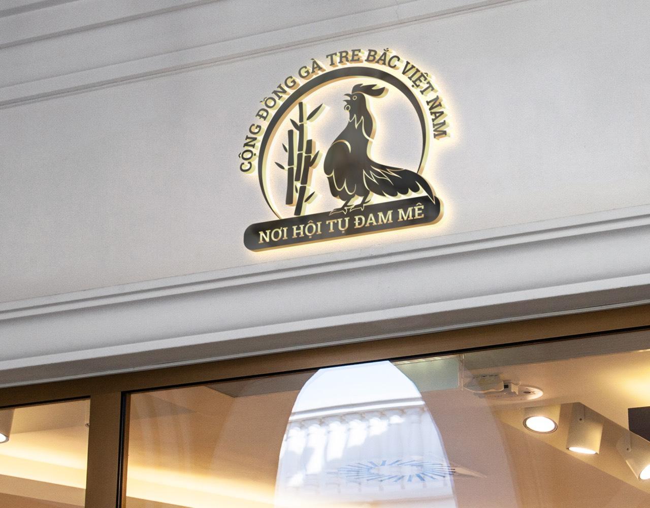Logo cộng đồng gà tre bắc Việt Nam 4
