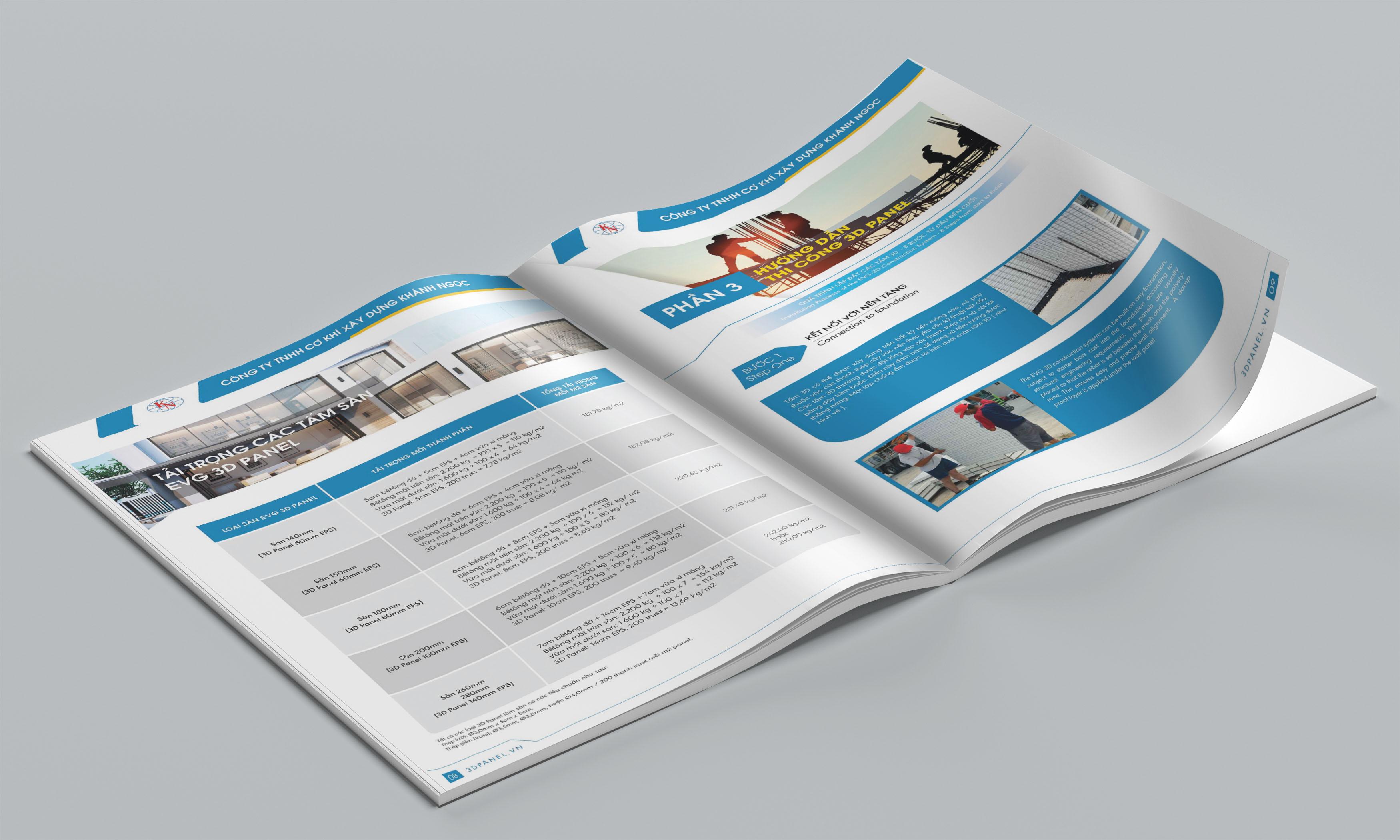 thiết kế catalogue 3d panel 3