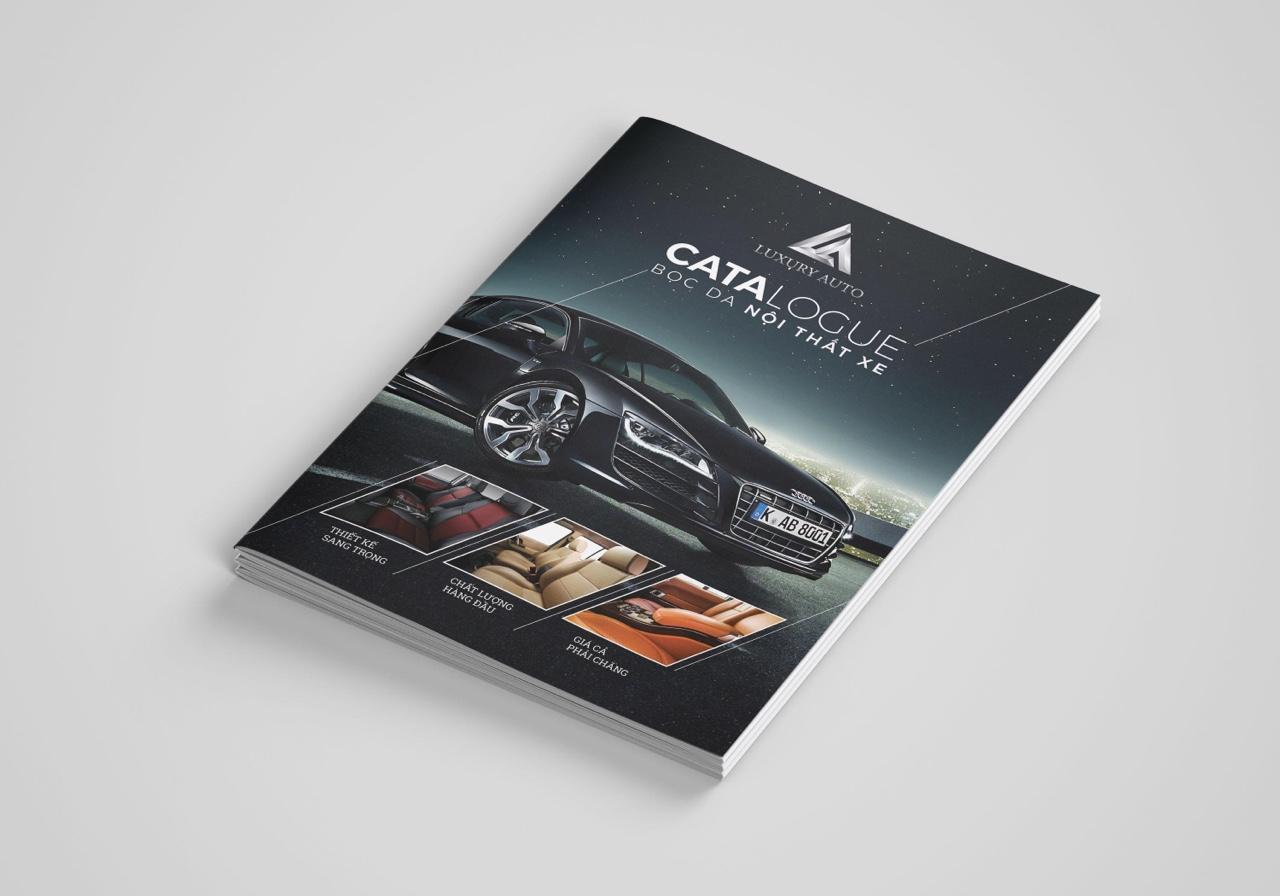 thiết kế catalogue nội thất ô tô 1