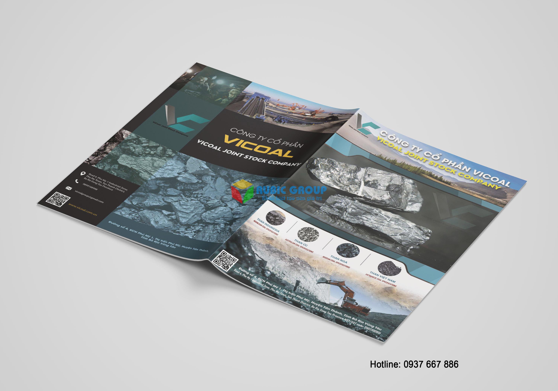 thiết kế catalogue than đá vicoal 1