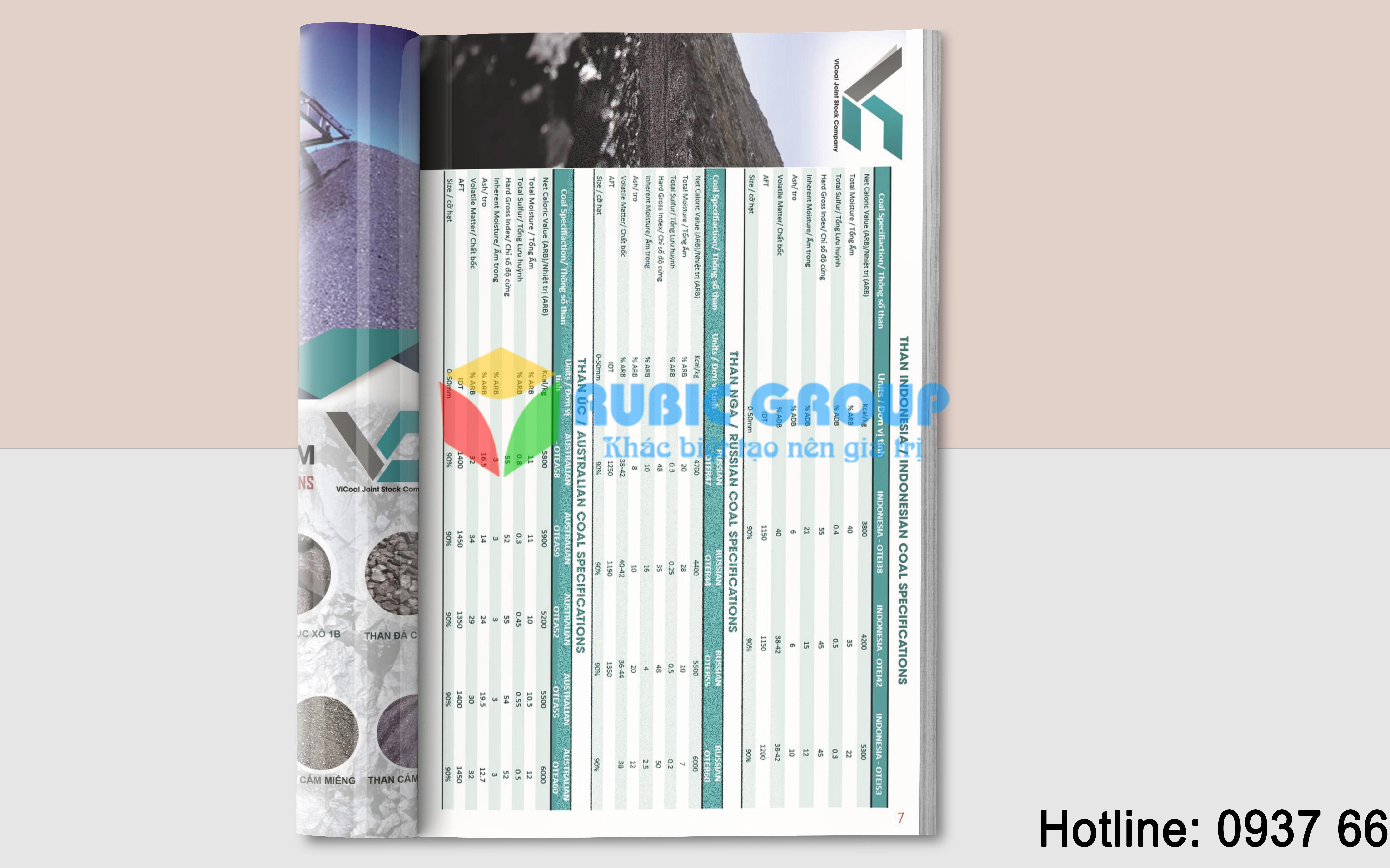 thiết kế catalogue than đá vicoal 3