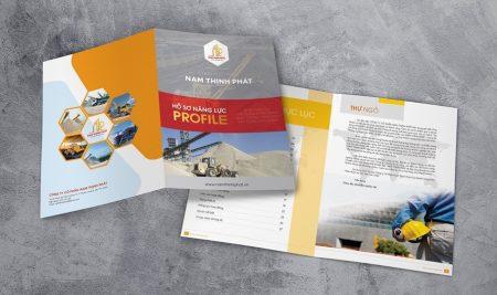 Thiết kế hồ sơ năng lực công ty Nam Thịnh Phát