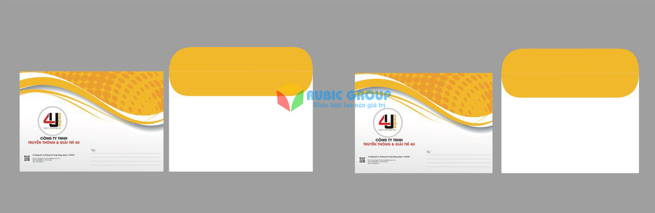 thiết kế bì thư 1 giá rẻ