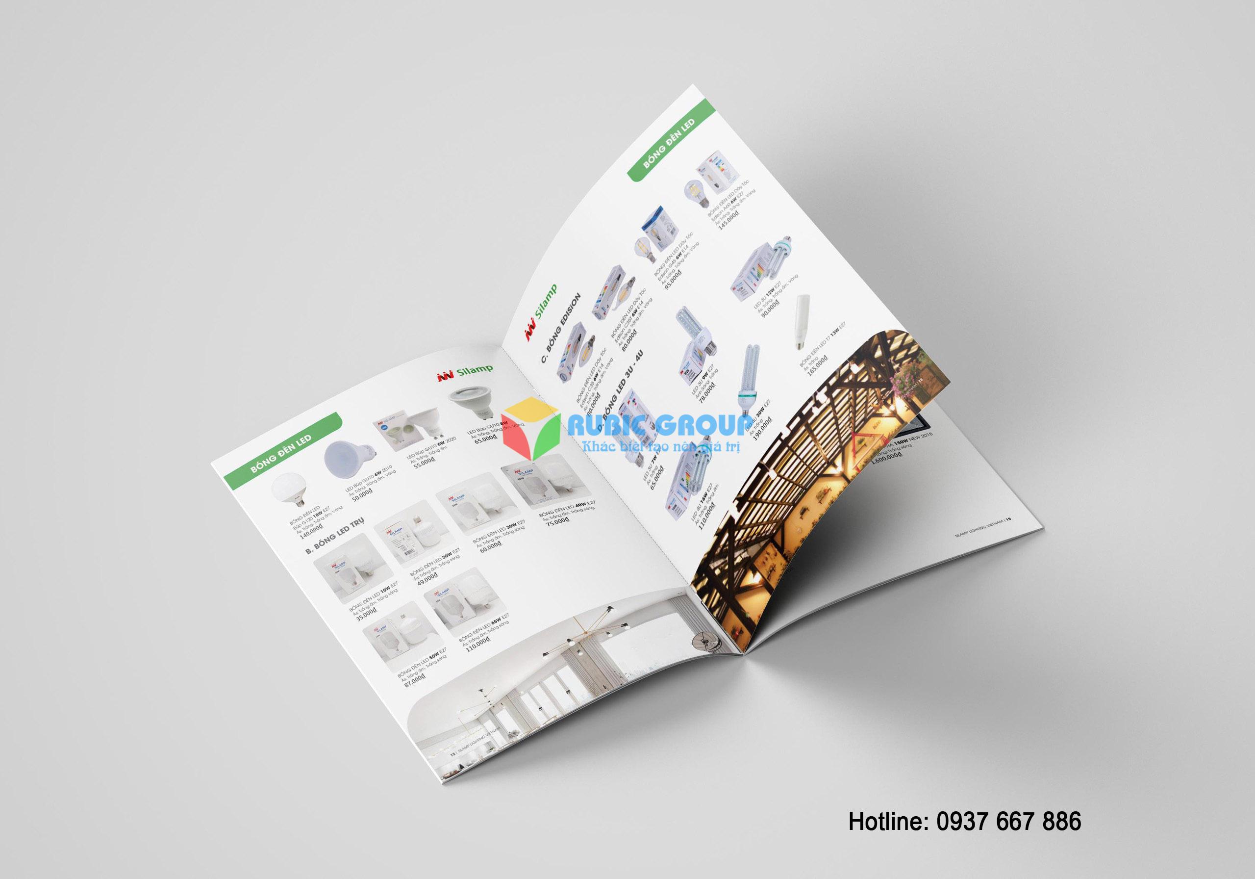 thiết kế catalogue đèn điện tại tphcm 3