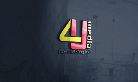 Thiết kế logo thương hiệu 4U Media