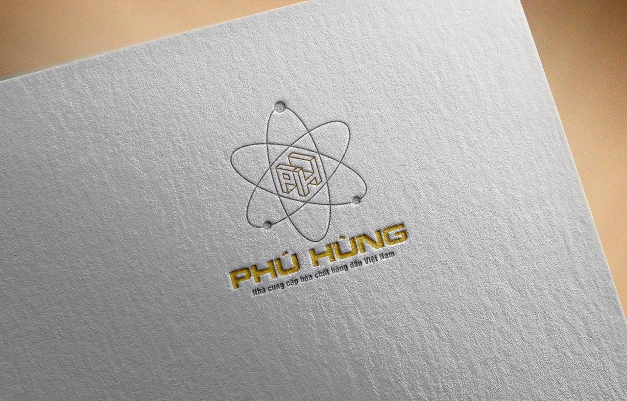 thiết kế logo hoát chất phú hùng 3