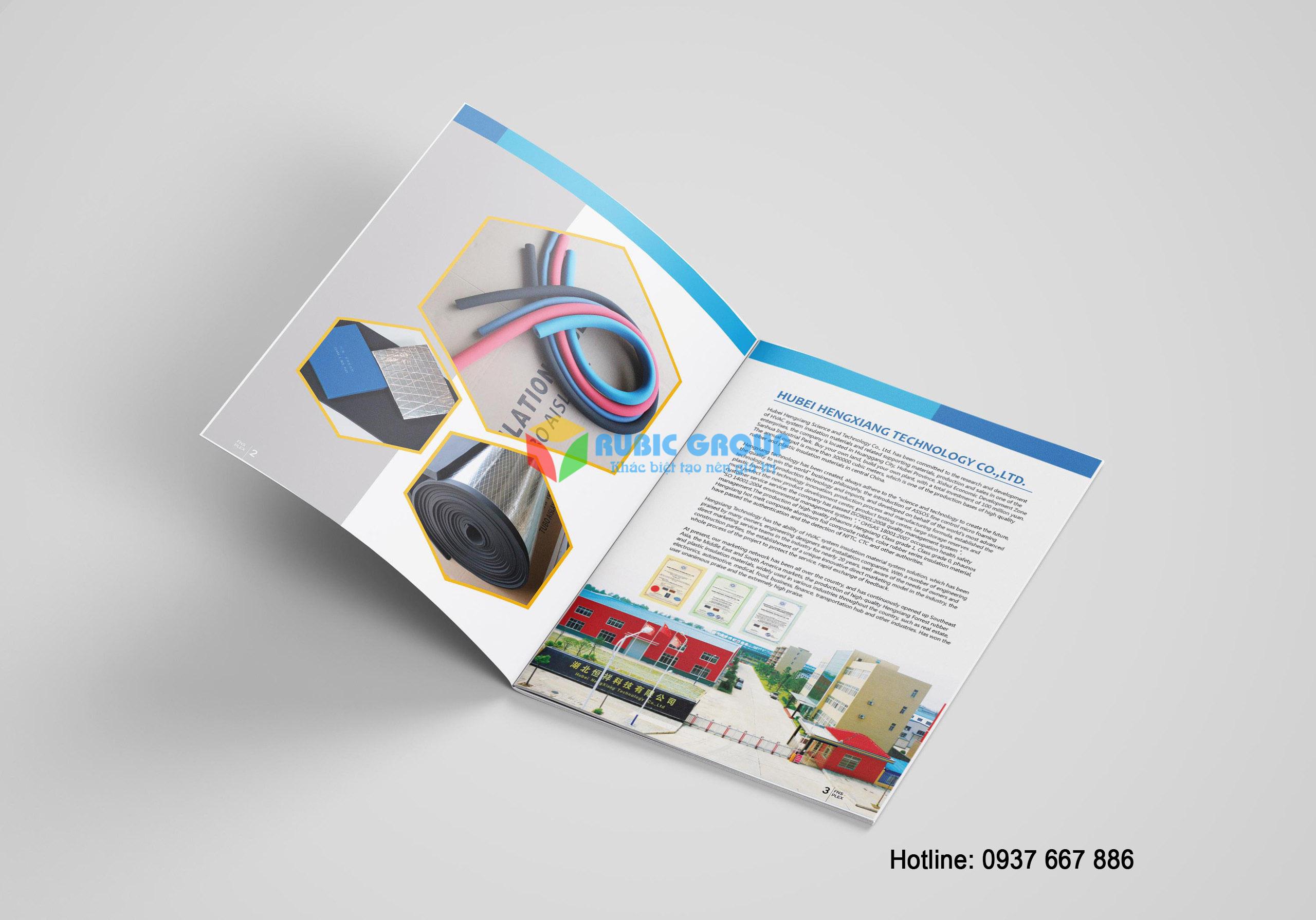 thiết kế catalogue cao su bảo ôn tại biên hoà 3