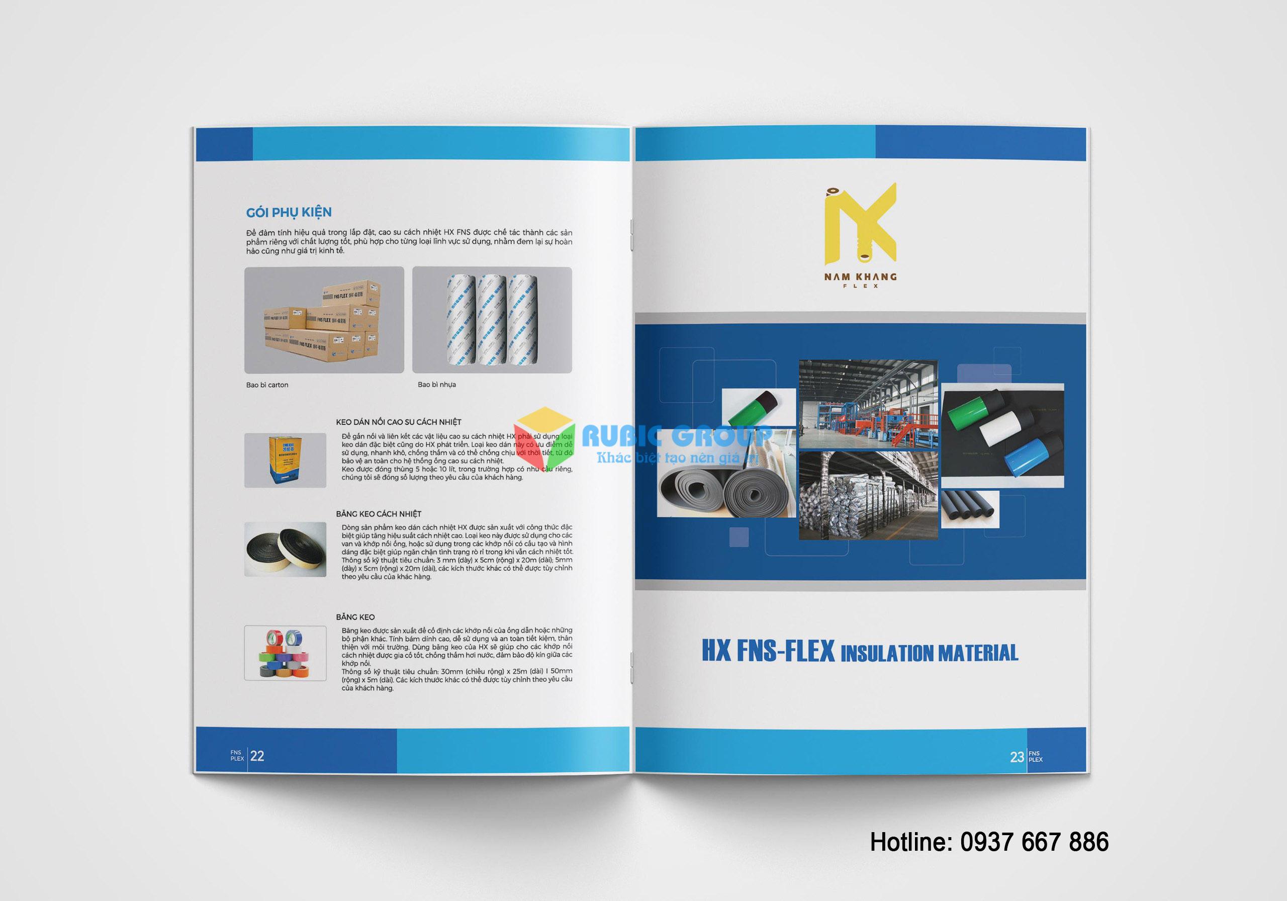 thiết kế catalogue cao su bảo ôn tại biên hoà 5