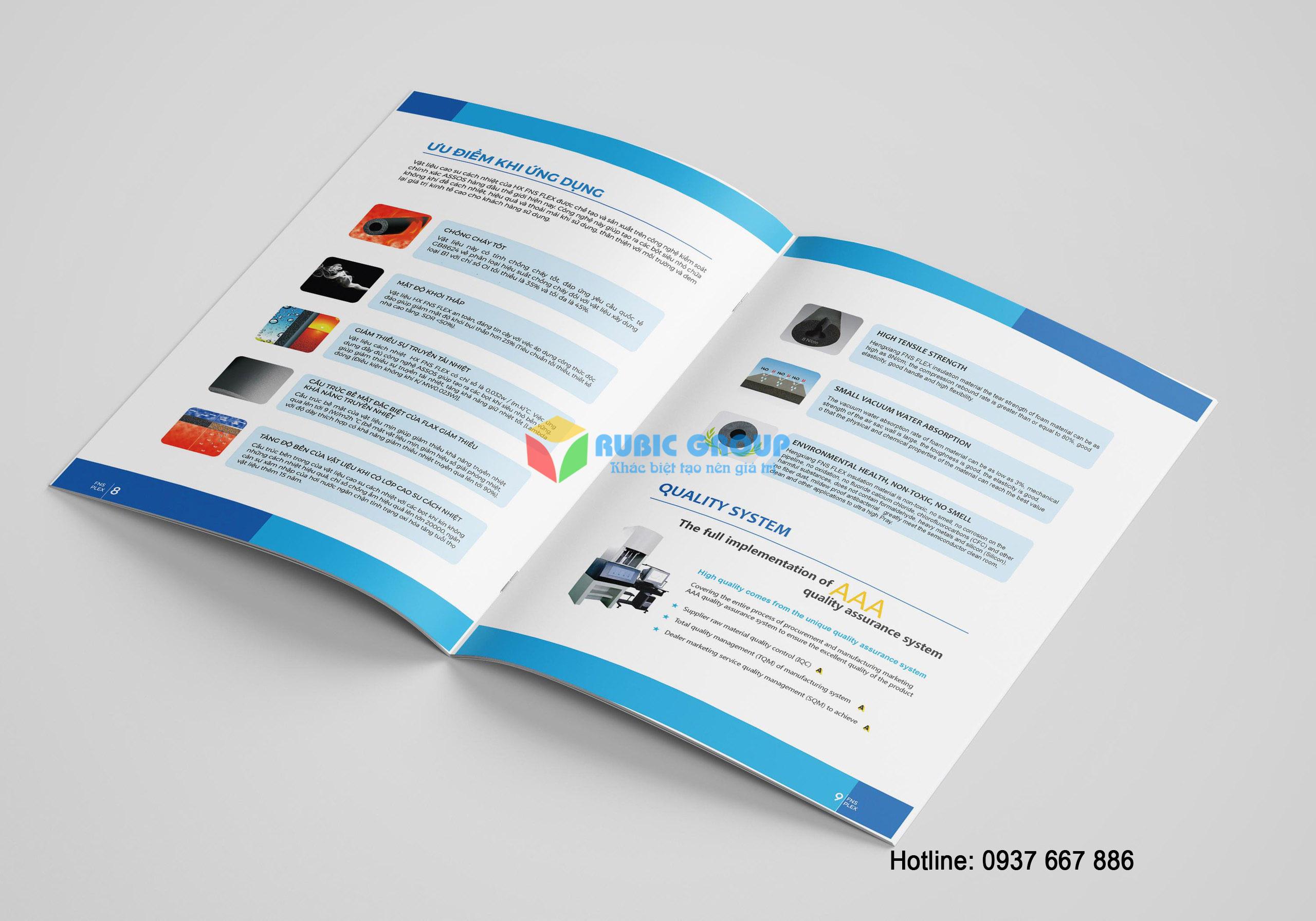 thiết kế catalogue cao su bảo ôn tại biên hoà 6