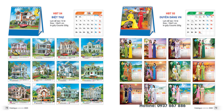 thiết kế lịch để bàn 2