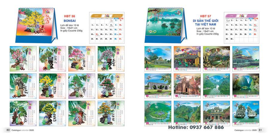 thiết kế lịch để bàn 4