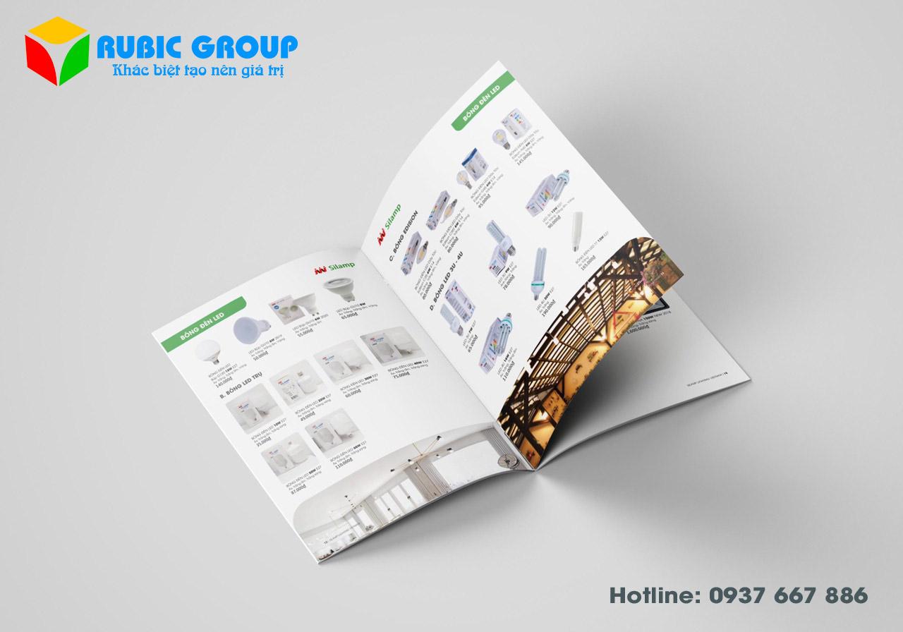 thiết kế catalogue đèn điện giá rẻ