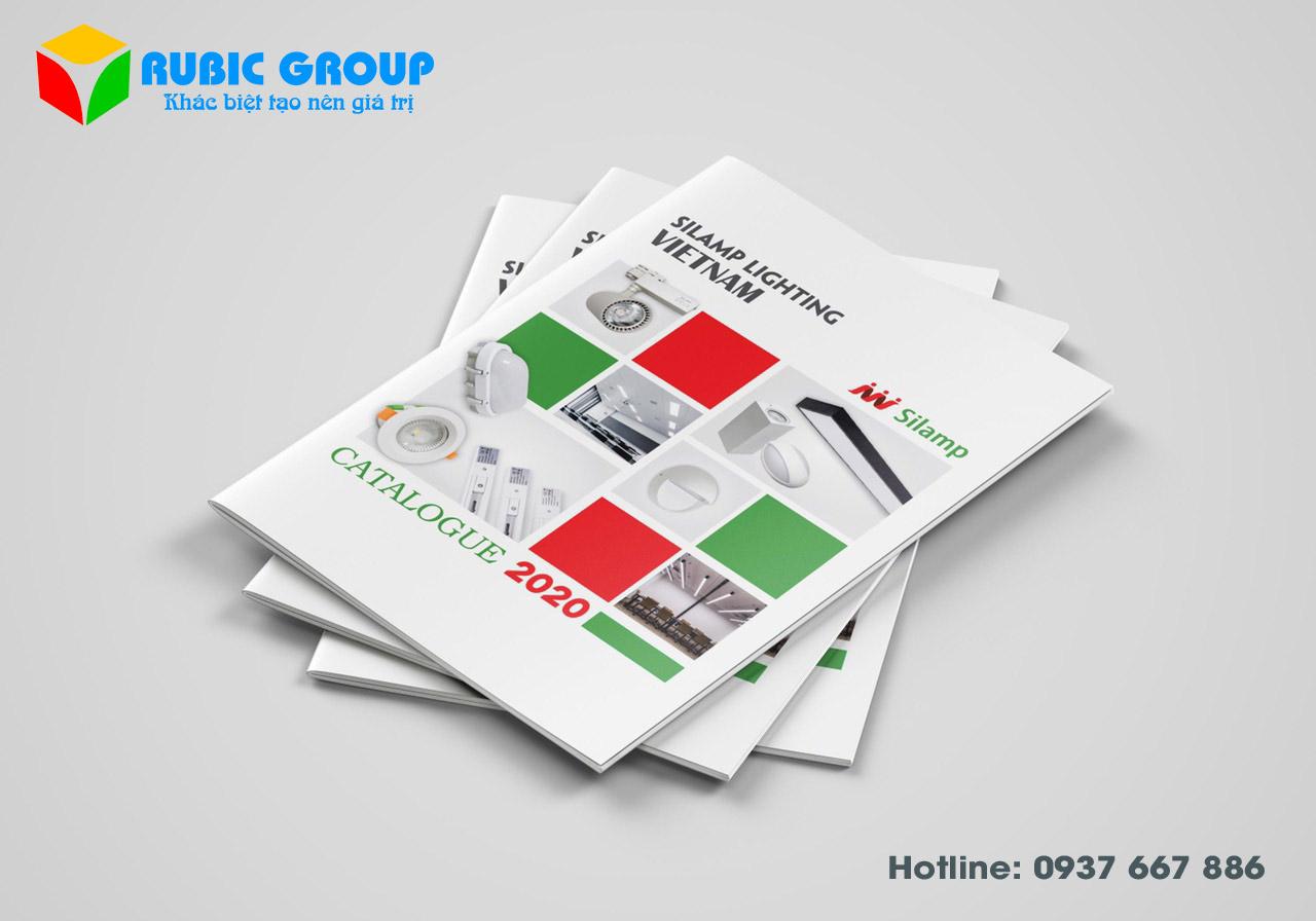 thiết kế catalogue đèn điện