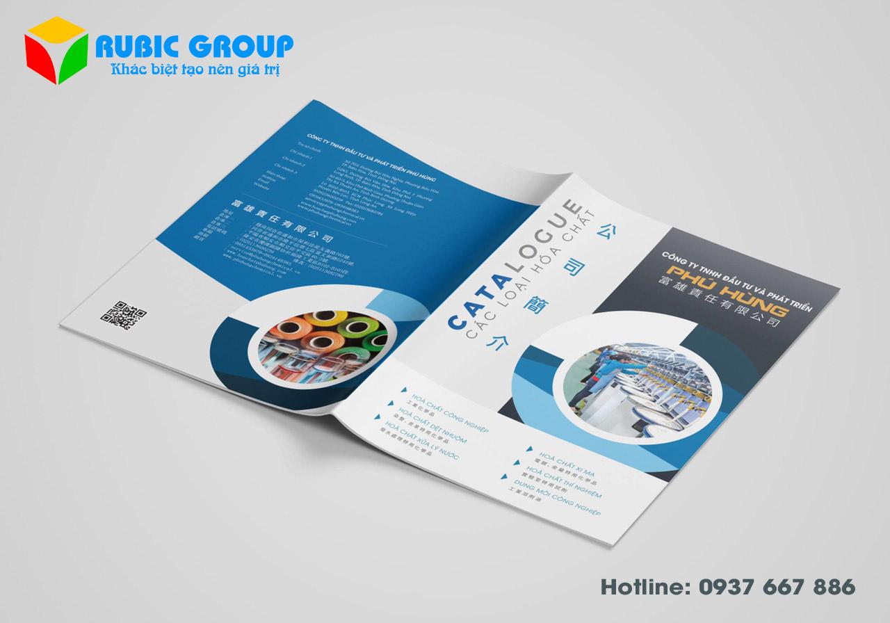 thiết kế catalogue hoá chất giá rẻ