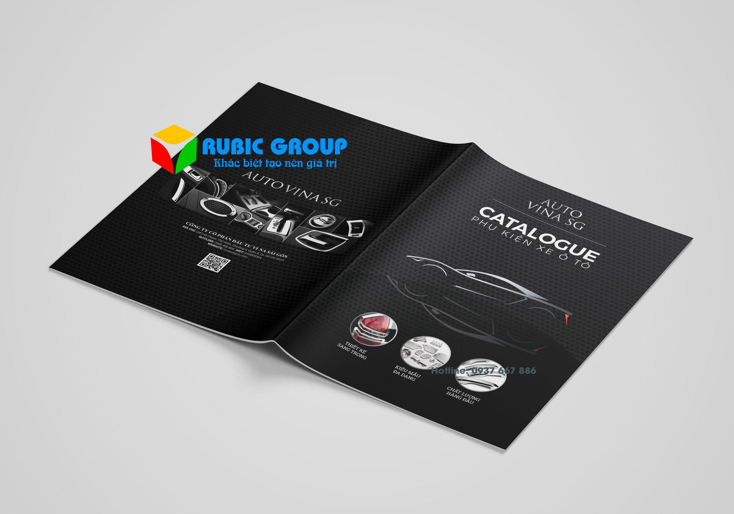 thiết kế catalogue phụ kiện ô tô giá rẻ