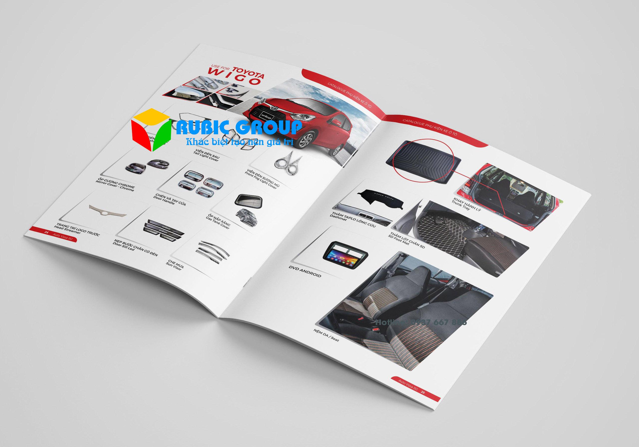 thiết kế catalogue phụ kiện ô tô tại tphcm