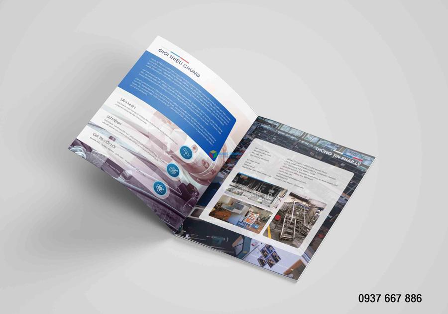 thiết kế hồ sơ năng lực xây dựng tiến mạnh phát 5