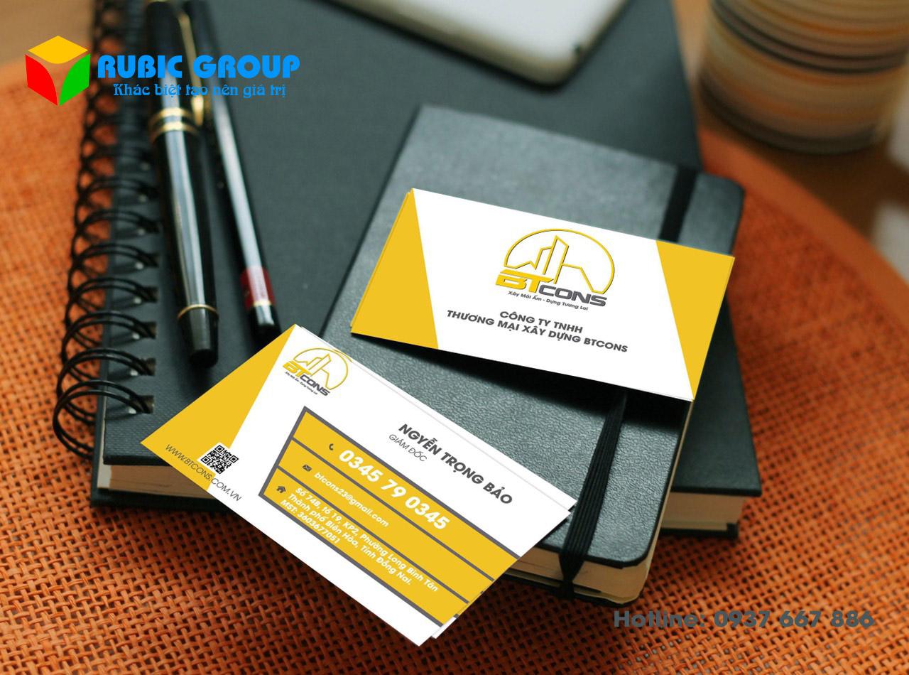 thiết kế nhãn hiệu card visit