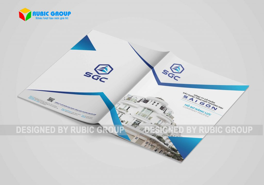 thiết kế catalogue công ty xây dựng