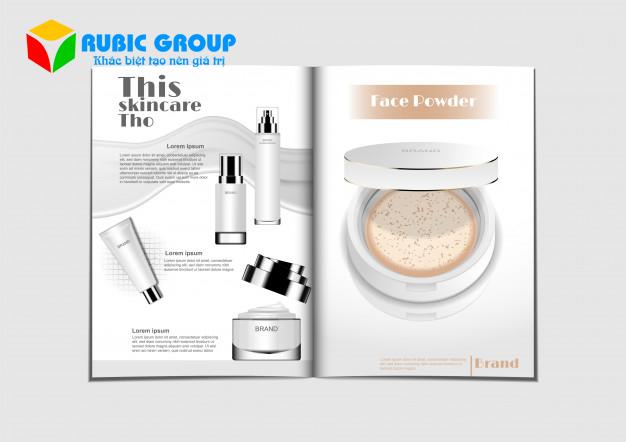 thiết kế catalogue mỹ phẩm 1