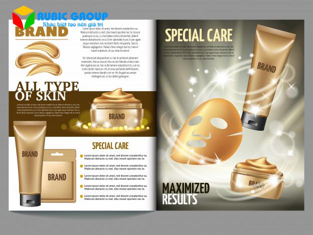 thiết kế catalogue mỹ phẩm 2