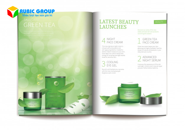 thiết kế catalogue mỹ phẩm 5