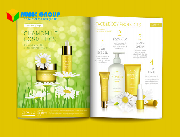 thiết kế catalogue mỹ phẩm 7