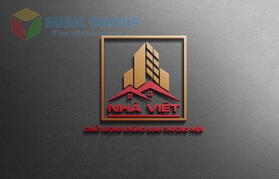 thiết kế logo vật liệu xây dựng 3