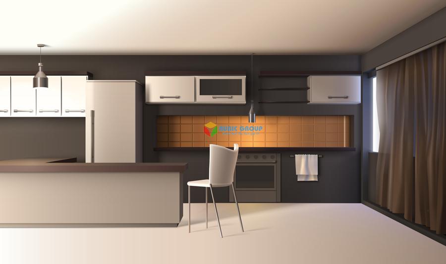 thiết kế nội thất phòng bếp 2