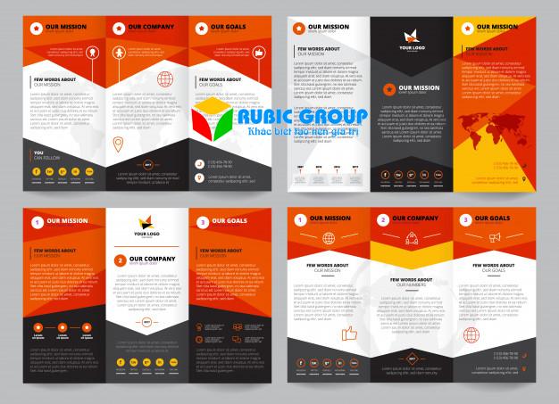 thiết kế brochure gấp 3