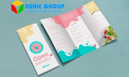 Thiết kế brochure gấp 3 chuyên nghiệp, ấn tượng