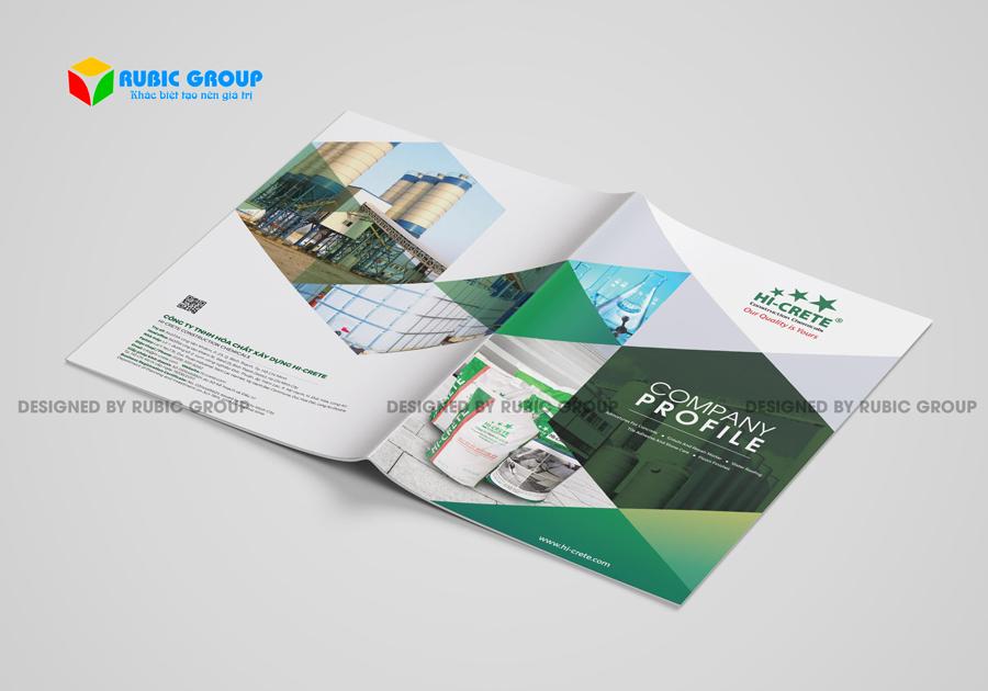 thiết kế hồ sơ năng lực công ty hoá chất 1