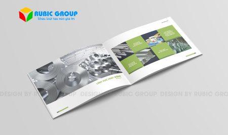 Thiết kế hồ sơ năng lực công ty sắt thép sáng tạo, chuyên nghiệp
