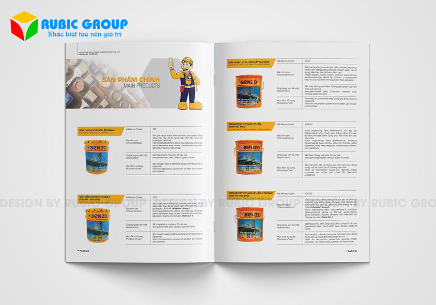 thiết kế hồ sơ năng lực công ty sơn 5
