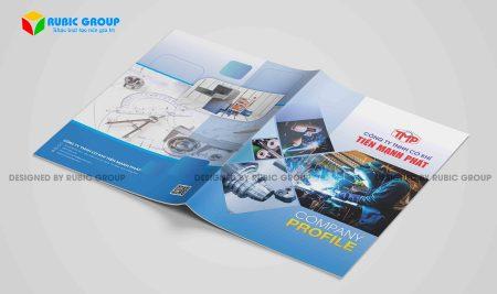 Thiết kế hồ sơ năng lực công ty thiết bị cơ khí chuyên nghiệp