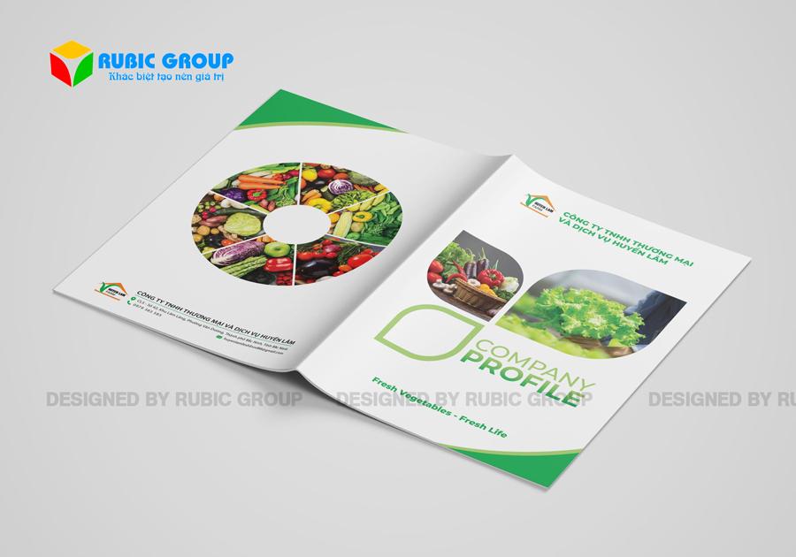 thiết kế hồ sơ năng lực công ty thực phẩm 1